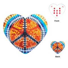 Tie Dye Peace Sign Playing Cards (Heart)