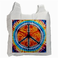 Tie Dye Peace Sign Recycle Bag (One Side)