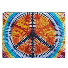 Tie Dye Peace Sign Cosmetic Bag (XXL)