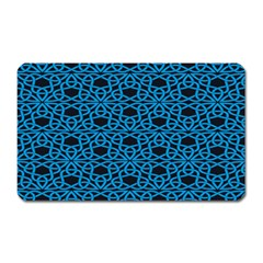 Triangle Knot Blue And Black Fabric Magnet (Rectangular)