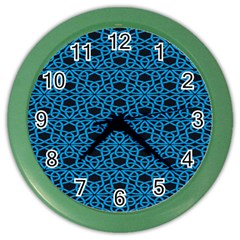 Triangle Knot Blue And Black Fabric Color Wall Clocks