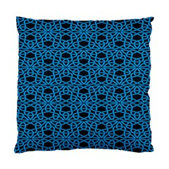Triangle Knot Blue And Black Fabric Standard Cushion Case (Two Sides)
