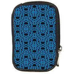 Triangle Knot Blue And Black Fabric Compact Camera Cases