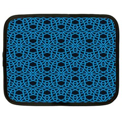 Triangle Knot Blue And Black Fabric Netbook Case (XL)
