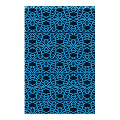 Triangle Knot Blue And Black Fabric Shower Curtain 48  x 72  (Small)