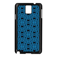 Triangle Knot Blue And Black Fabric Samsung Galaxy Note 3 N9005 Case (Black)