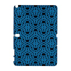 Triangle Knot Blue And Black Fabric Galaxy Note 1
