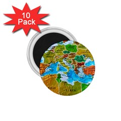 World Map 1.75  Magnets (10 pack)