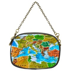 World Map Chain Purses (Two Sides)