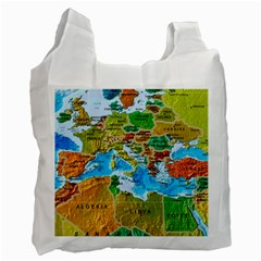 World Map Recycle Bag (One Side)