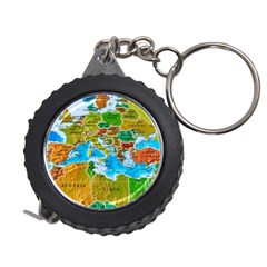 World Map Measuring Tapes