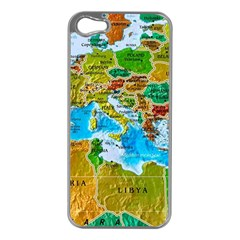 World Map Apple iPhone 5 Case (Silver)