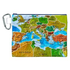 World Map Canvas Cosmetic Bag (XXL)
