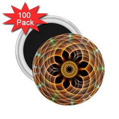 Mixed Chaos Flower Colorful Fractal 2.25  Magnets (100 pack)