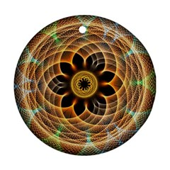 Mixed Chaos Flower Colorful Fractal Round Ornament (Two Sides)