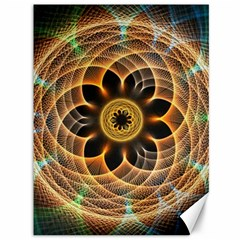 Mixed Chaos Flower Colorful Fractal Canvas 36  x 48