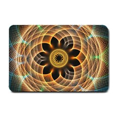 Mixed Chaos Flower Colorful Fractal Small Doormat