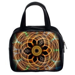 Mixed Chaos Flower Colorful Fractal Classic Handbags (2 Sides)