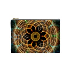 Mixed Chaos Flower Colorful Fractal Cosmetic Bag (Medium)