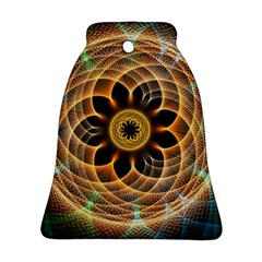 Mixed Chaos Flower Colorful Fractal Bell Ornament (Two Sides)