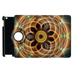 Mixed Chaos Flower Colorful Fractal Apple iPad 3/4 Flip 360 Case
