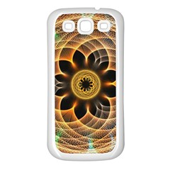 Mixed Chaos Flower Colorful Fractal Samsung Galaxy S3 Back Case (White)