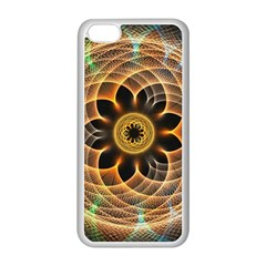 Mixed Chaos Flower Colorful Fractal Apple iPhone 5C Seamless Case (White)
