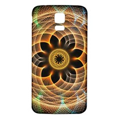 Mixed Chaos Flower Colorful Fractal Samsung Galaxy S5 Back Case (White)