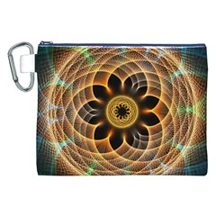 Mixed Chaos Flower Colorful Fractal Canvas Cosmetic Bag (XXL)