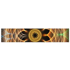 Mixed Chaos Flower Colorful Fractal Flano Scarf (Small)