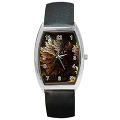 Fractalius Abstract Forests Fractal Fractals Barrel Style Metal Watch