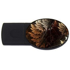 Fractalius Abstract Forests Fractal Fractals USB Flash Drive Oval (4 GB)