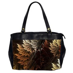 Fractalius Abstract Forests Fractal Fractals Office Handbags (2 Sides)