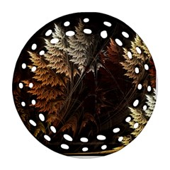 Fractalius Abstract Forests Fractal Fractals Ornament (Round Filigree)