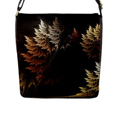 Fractalius Abstract Forests Fractal Fractals Flap Messenger Bag (L)