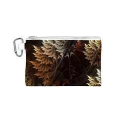 Fractalius Abstract Forests Fractal Fractals Canvas Cosmetic Bag (S)