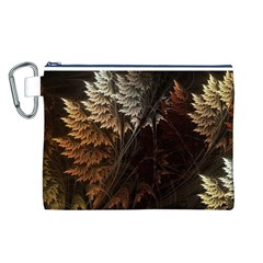 Fractalius Abstract Forests Fractal Fractals Canvas Cosmetic Bag (L)