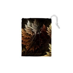 Fractalius Abstract Forests Fractal Fractals Drawstring Pouches (XS)