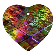 Technology Circuit Computer Heart Ornament (Two Sides)