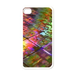 Technology Circuit Computer Apple iPhone 4 Case (White)