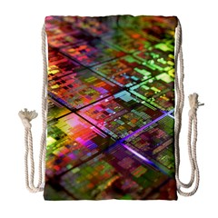 Technology Circuit Computer Drawstring Bag (Large)