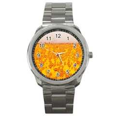 Beer Alcohol Drink Drinks Sport Metal Watch
