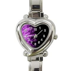 Fire Heart Italian Charm Watch