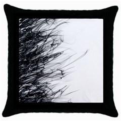 Fire Throw Pillow Case (Black)
