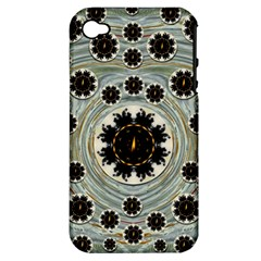 Wood In The Soft Fire Galaxy Pop Art Apple Iphone 4/4s Hardshell Case (pc+silicone)