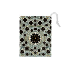 Wood In The Soft Fire Galaxy Pop Art Drawstring Pouches (small)