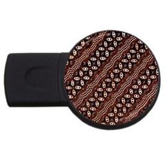 Art Traditional Batik Pattern USB Flash Drive Round (2 GB)