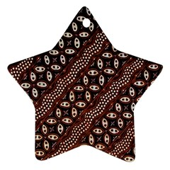Art Traditional Batik Pattern Star Ornament (Two Sides)