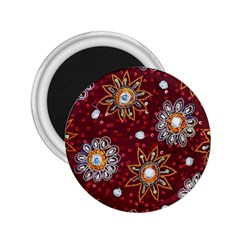 India Traditional Fabric 2.25  Magnets