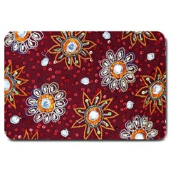 India Traditional Fabric Large Doormat